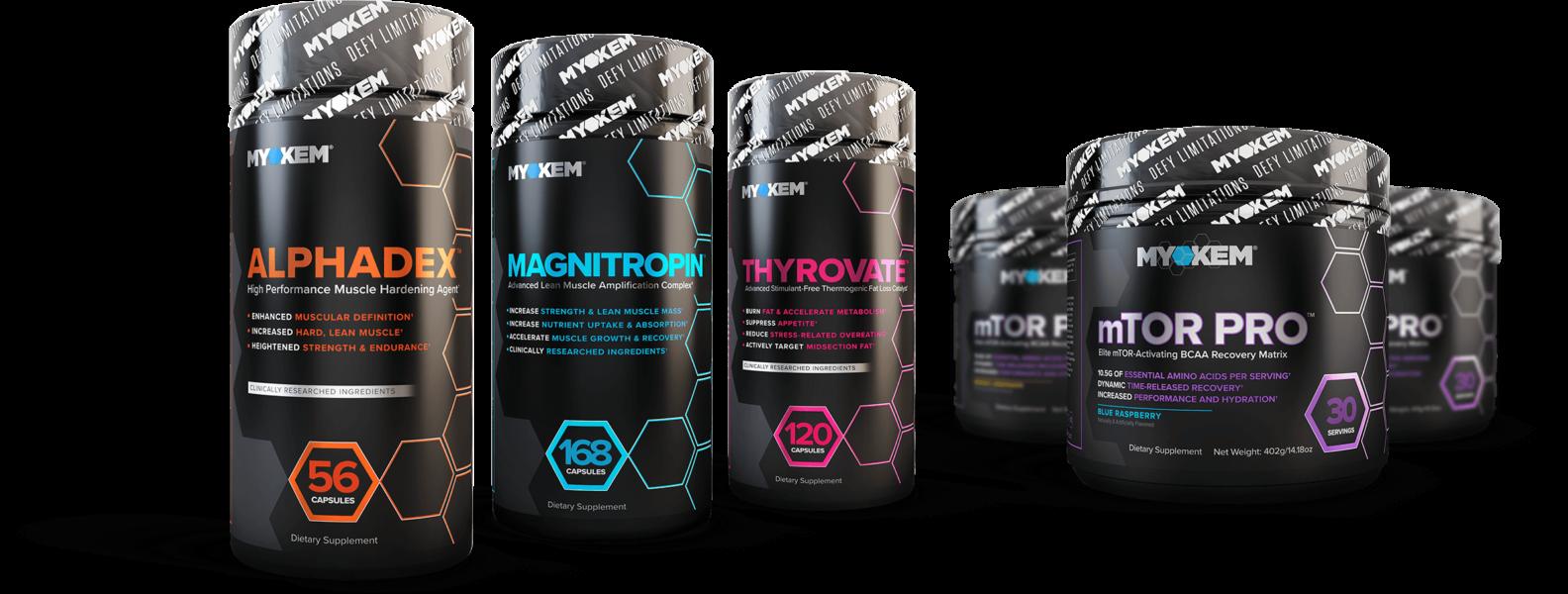Alphadex, Magnitropin, Thyrovate, mTOR Pro