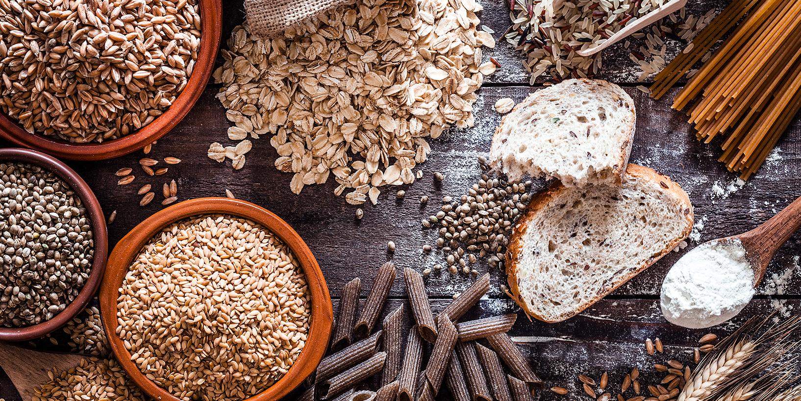 Carbs, bread, pasta, oats, etc.