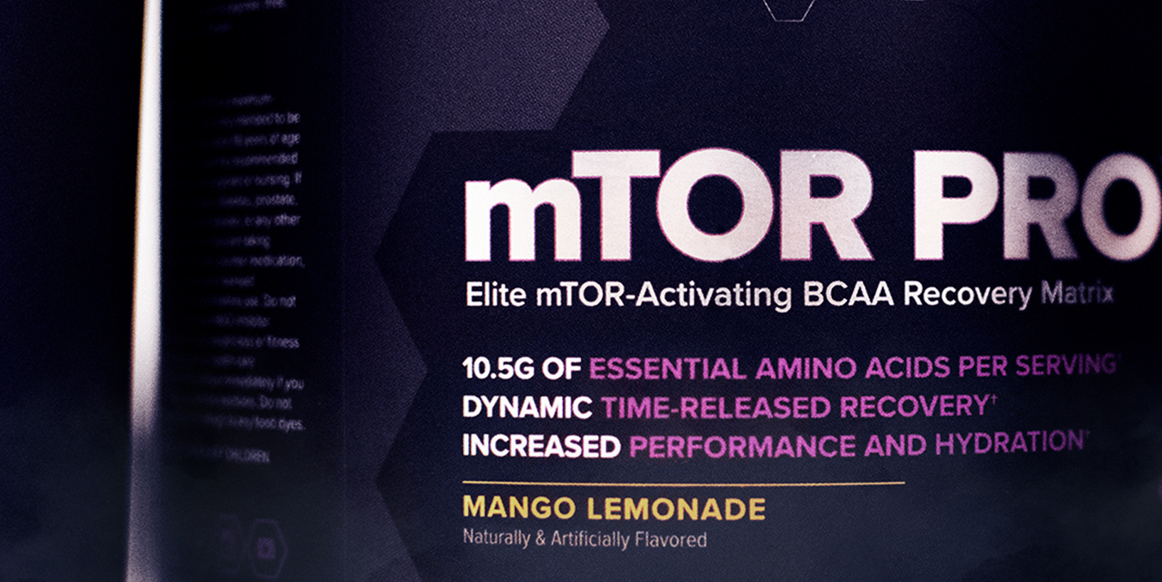 bottle of mTOR Pro with amino acids