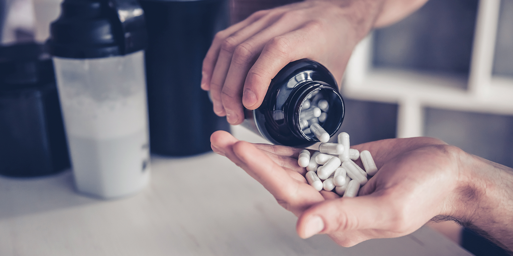 Supplements dumping in hand