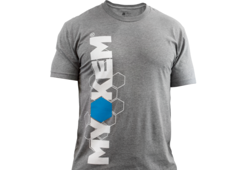 Gray Myokem t-shirt, performance fit